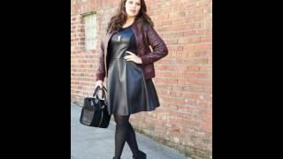 Кожаные платья для полных женщин