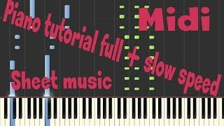 My chemical romance - Fake your death - piano tutorial midi sheet music
