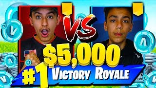My Brother Challenged Me To A $5,000 Fortnite 1v1! Intense