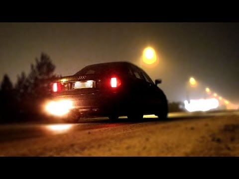 Audi 80 launch control test (wet and cold road)