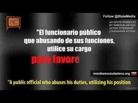 Venezuelan NGO denounces Chávez abuse of public media in election campaign (5 TV spots)