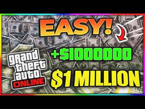 HOW TO GET 1 MILLION DOLLARS ($1,000,000)  IN GTA ONLINE!! (QUICK AND EASY)