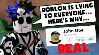 THE GHOST SAYS ROBLOX IS LYING TO US ABOUT JOHN DOE.. | Roblox Prison Life