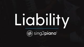 Liability (Piano Karaoke Instrumental) Lorde