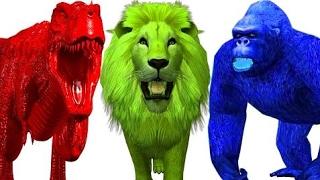 Цвета Для Детей С Динозаврами   Цветы Животные Обучающие Видео