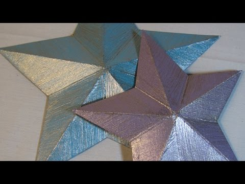 How To Make Pretty 3D Cereal Box Stars - DIY Crafts Tutorial - Guidecentral