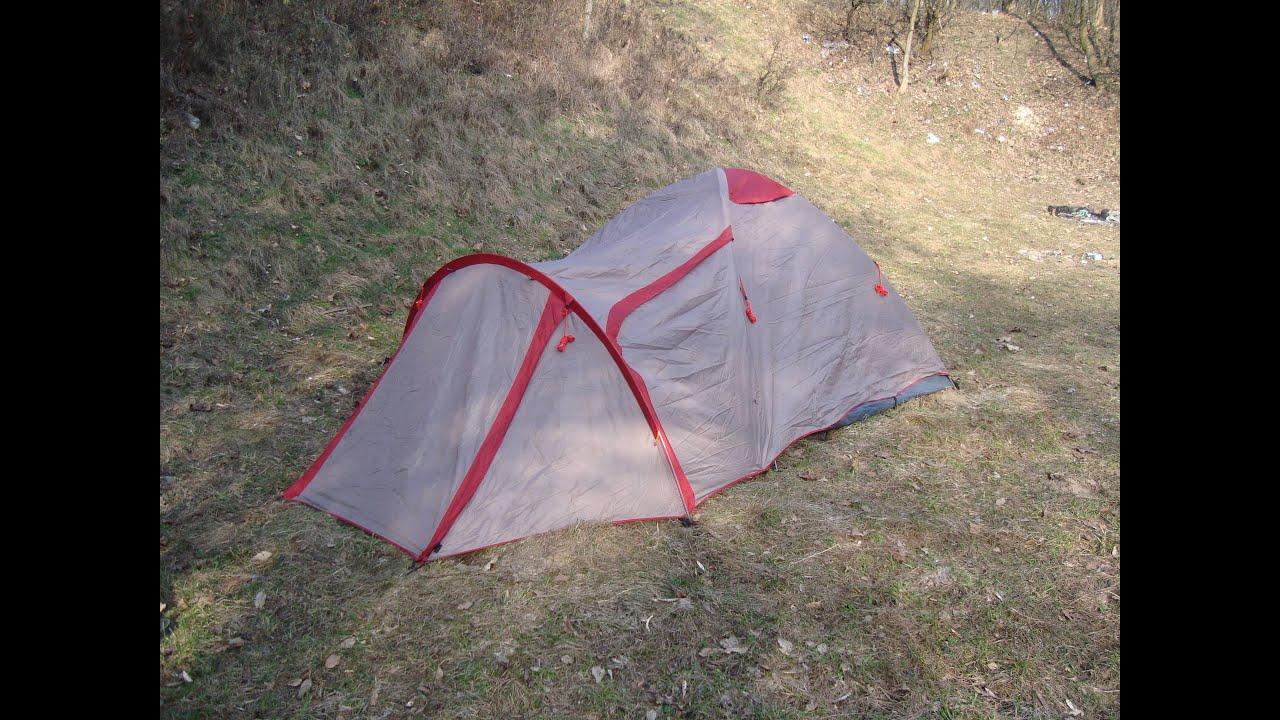 Палатка кемпинговая Trek Planet Atlanta Air 4 - YouTube