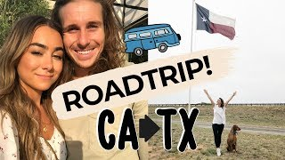 MOVING VLOG #2 | Roadtrip from California to Texas