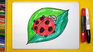 Как нарисовать Божью Коровку, Урок рисования для детей от 3 лет