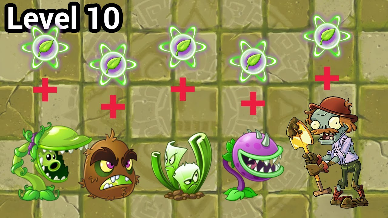 Plants vs Zombies 2 Melee & Piercing Plants Power Up vs Excavator Zombie