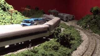 Running Some of My HO Scale Amtrak Trains on My New Layout (Part 2)