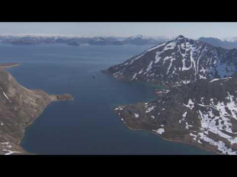 Dønnesfjord, Børfjord, Svartbotn naturreservat, Hellefjord - Flying Over Norway