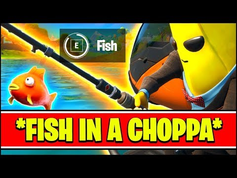 HOW TO CATCH A FISH WHILE RIDING IN A CHOPPA Locations (Fortnite Season 2 Week 10 Challenge)