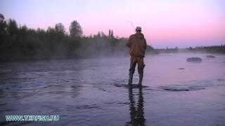Рыбалка на Кольском. Сёмга сорвалась. 2013 год. Лагерь ТЕРФИШ