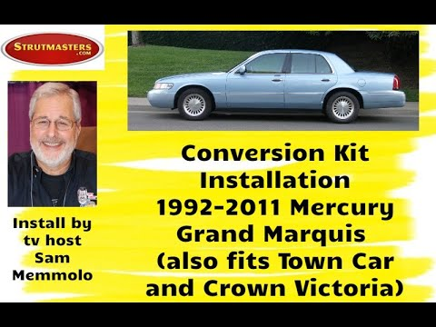 how to fix the rear suspension on a mercury grand marquis with sam memmolo  - youtube