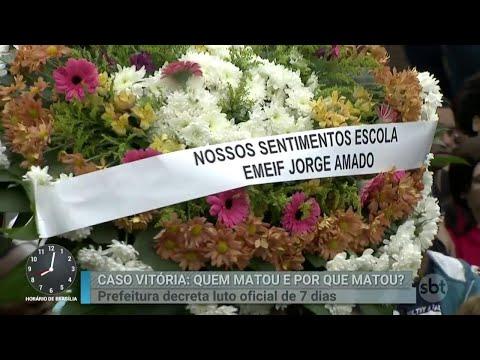 Menina Vitória é enterrada sob aplausos em Araçariguama | Primeiro Impacto (18/06/18)