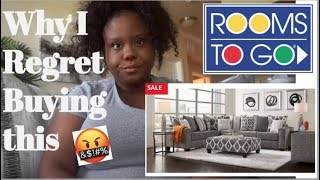 Rooms To Go Review | Don't Buy this Sectional |Carole court gray 2 pc sectional