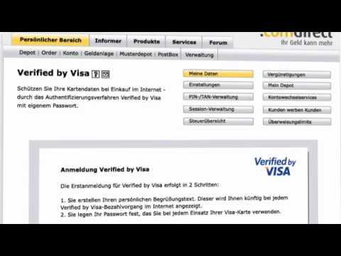 Verified by visa passwort