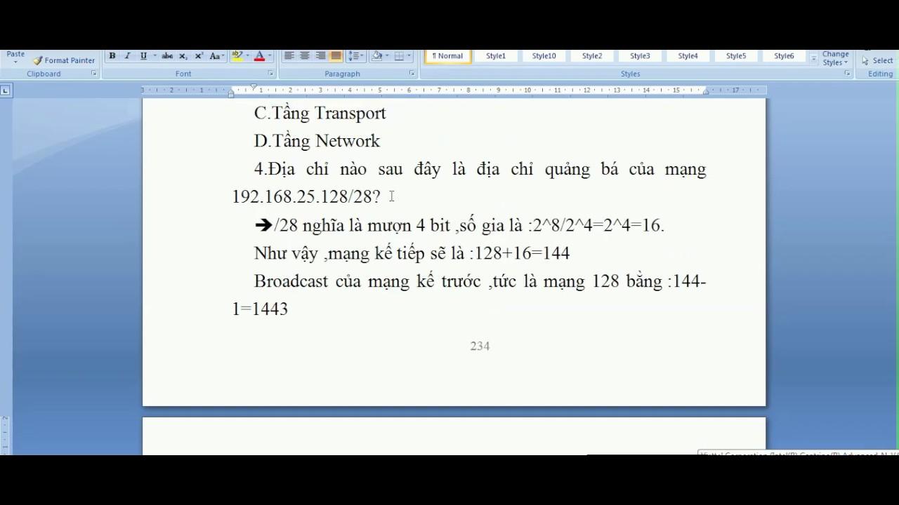 Đề cương ôn tập môn mạng máy tính và truyền số liệu -Trường ICTU -Phần 1-Nguyễn Công Trình