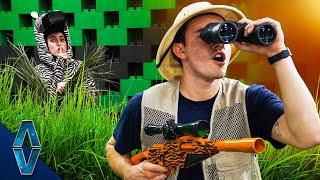 NERF Safari Hide And Seek Challenge!
