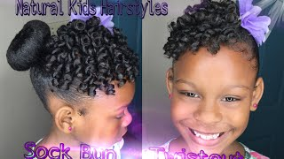 Kids Natural Hairstyle: Sock Bun & Defined Twistout with Rollers(READ READ READ READ READ!!!!!! Say Hello To My Daughter Maliyah Starr. In This Video I Am Recreating A Look I Saw On Instagram On Ms @IAMAWOG ..., 2016-04-15T10:04:31.000Z)