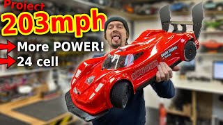WORLDS fastest RC Car 1st run - MORE POWER!