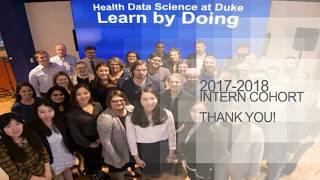 2017-2018 Duke Health Data Science Intern Graduation & Thank You