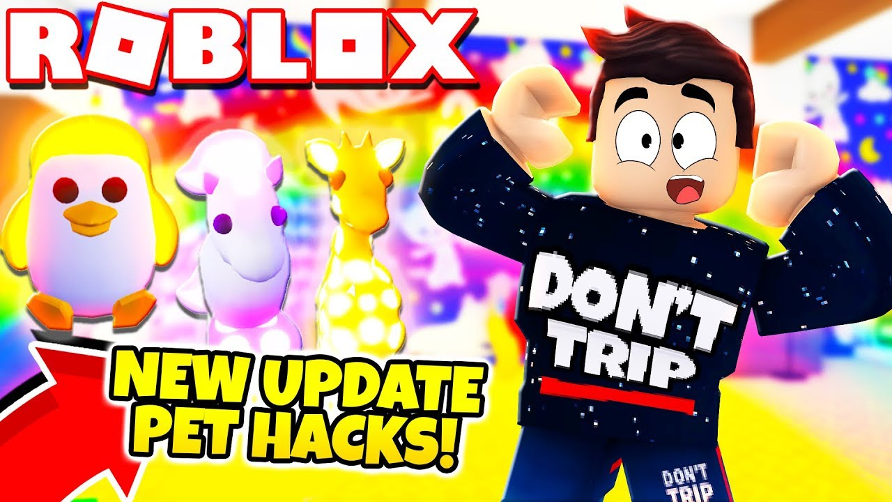 New Free Neon Pets Hack In Adopt Me New Adopt Me Furniture Update Roblox Youtube