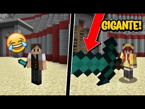 Minecraft: CHERRY COM ESPADA GIGANTE VS JAZZGHOST COM ESPADA MINÚSCULA! (EU VENCI?)