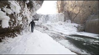 MASSIVE Frozen WATERFALL!