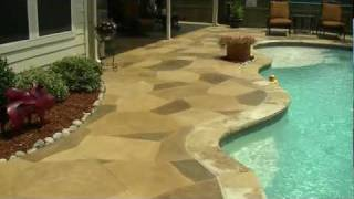 """""""Rubber Ducky"""" - A stamped decorative concrete overlay in Denton, TX"""