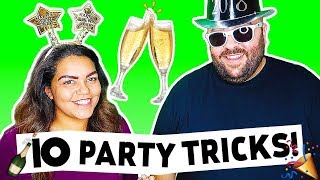 10 NEW YEAR'S EVE PARTY TRICKS | HOW TO MAGIC
