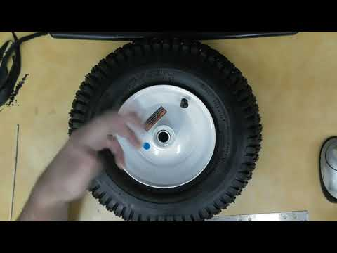 "Harbor Freight 13"" Pneumatic Tire with Hub Review Item 37767"