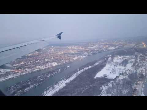 Landing at Belgrade Nikola Tesla Airport 2017
