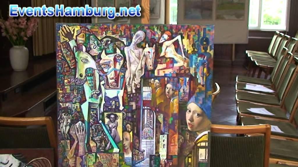 hamburg moderne kunst kubismus k nstler alexander alkhovski youtube. Black Bedroom Furniture Sets. Home Design Ideas