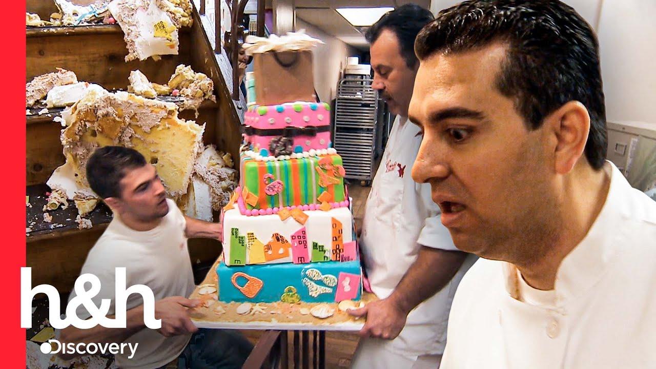 Download Reacción de Buddy al enterarse que dejaron caer un pastel listo | Cake Boss | Discovery H&H