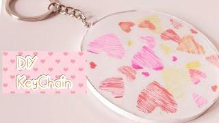 DIY Keychain /How to make Paper Hoop Keychain / Gift idea