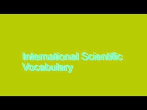 How to Pronounce International Scientific Vocabulary