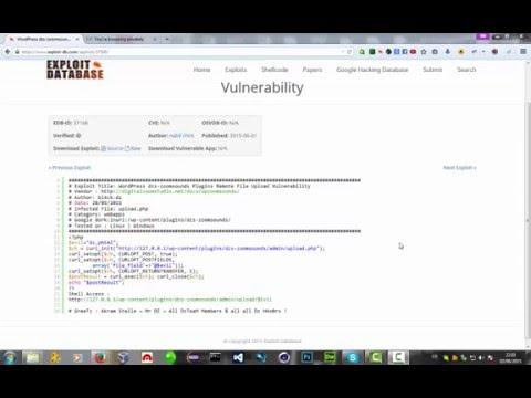 محمد الطيار (الحلقة ١٠) : شرح موقع exploit-db وكيفة اختراق