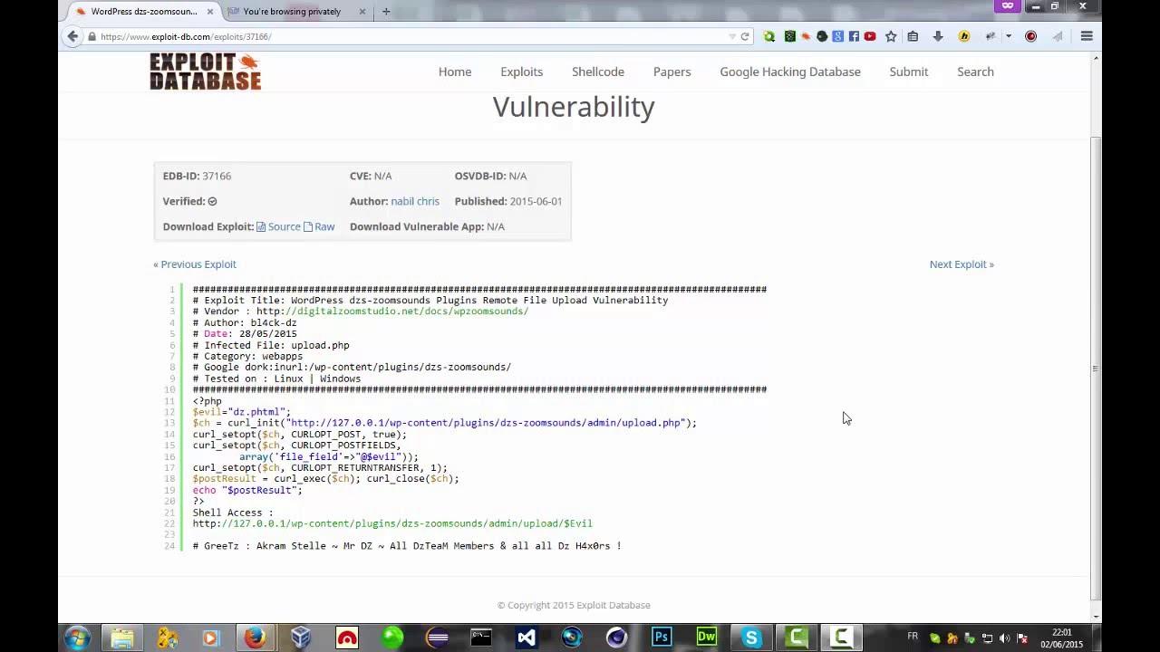 Wordpress exploit file Upload vuln 2015