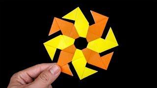 Origami Paper Ninja Star 8 points - Let's Make Ninja Star 8 points