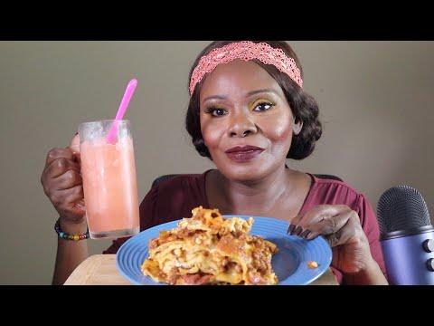 Lasagna - Watermelon Slushy ASMR Eating Sounds