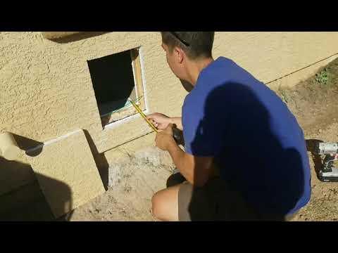 Hale Dog Door Stucco Wall Install 210.679.1495