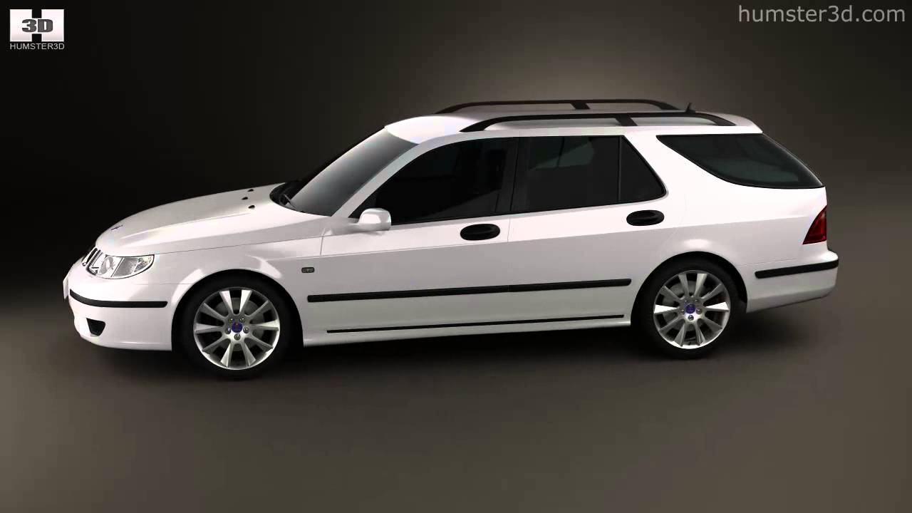 saab 9 5 aero wagon 2005 by 3d model store. Black Bedroom Furniture Sets. Home Design Ideas