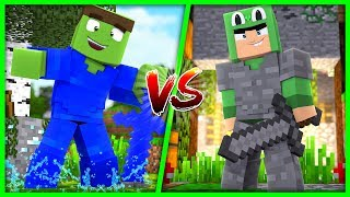 Minecraft - WATER VS STONE ARMOUR CHALLENGE