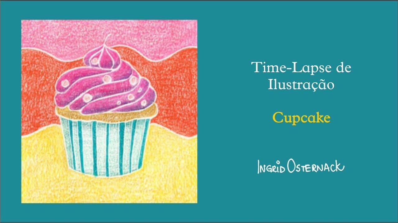Cupcake em Lápis de Cor