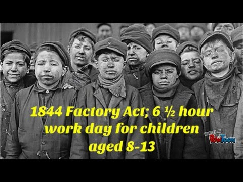 A factory worker in the Industrial Revolution