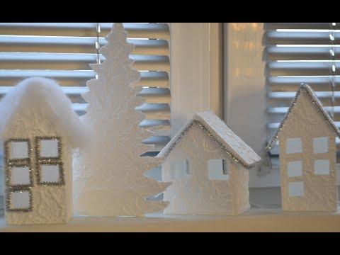 Поделки из потолочной плитки// DIY Christmas decor