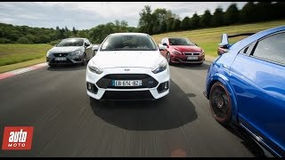 Comparatif Gti 2016 : Focus Rs / Civic Type R / Peugeot 308 Gti / Leon Cupra [Partie 1/2]