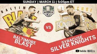 Baltimore Blast vs Syracuse Silver Knights